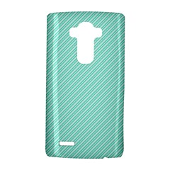 Tiffany Aqua Blue Deckchair Stripes LG G4 Hardshell Case