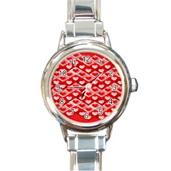Hearts On Tile Round Italian Charm Watch