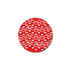 Hearts On Tile Golf Ball Marker (10 pack)