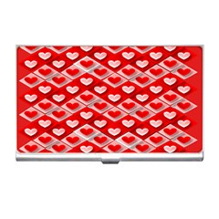 Hearts On Tile Business Card Holders