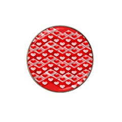 Hearts On Tile Hat Clip Ball Marker