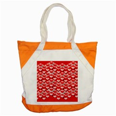 Hearts On Tile Accent Tote Bag
