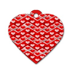 Hearts On Tile Dog Tag Heart (Two Sides)