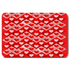 Hearts On Tile Large Doormat