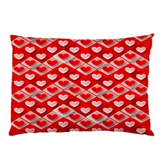 Hearts On Tile Pillow Case