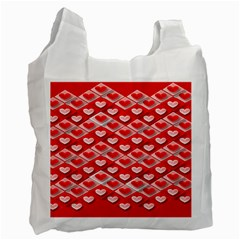Hearts On Tile Recycle Bag (One Side)