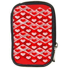 Hearts On Tile Compact Camera Cases