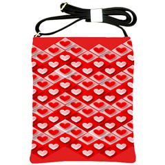 Hearts On Tile Shoulder Sling Bags