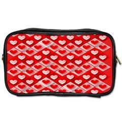 Hearts On Tile Toiletries Bags