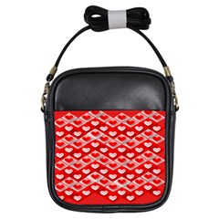 Hearts On Tile Girls Sling Bags