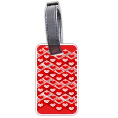 Hearts On Tile Luggage Tags (Two Sides)