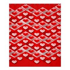 Hearts On Tile Shower Curtain 60  x 72  (Medium)