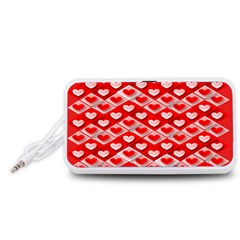 Hearts On Tile Portable Speaker (White)