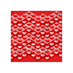 Hearts On Tile Acrylic Tangram Puzzle (4  x 4 )