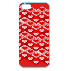 Hearts On Tile Apple Seamless iPhone 5 Case (Color)