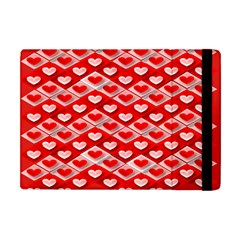 Hearts On Tile Apple iPad Mini Flip Case