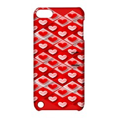Hearts On Tile Apple iPod Touch 5 Hardshell Case with Stand