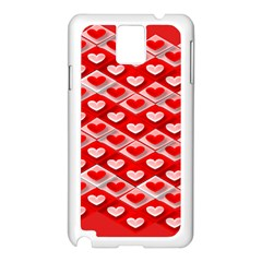 Hearts On Tile Samsung Galaxy Note 3 N9005 Case (White)