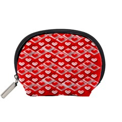 Hearts On Tile Accessory Pouches (Small)