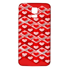 Hearts On Tile Samsung Galaxy S5 Back Case (White)