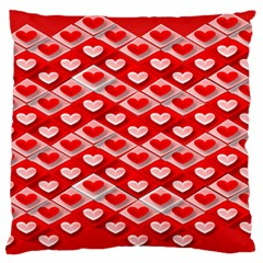 Hearts On Tile Standard Flano Cushion Case (Two Sides)