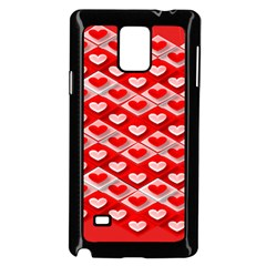 Hearts On Tile Samsung Galaxy Note 4 Case (Black)