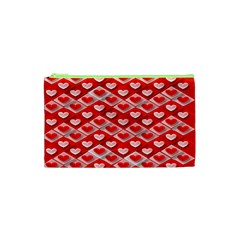 Hearts On Tile Cosmetic Bag (XS)