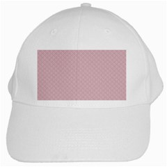 Baby Pink Stitched and Quilted Pattern White Cap