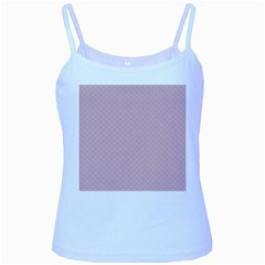 Baby Pink Stitched and Quilted Pattern Baby Blue Spaghetti Tank