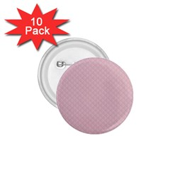 Baby Pink Stitched and Quilted Pattern 1.75  Buttons (10 pack)