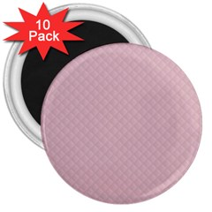 Baby Pink Stitched and Quilted Pattern 3  Magnets (10 pack)