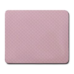Baby Pink Stitched and Quilted Pattern Large Mousepads
