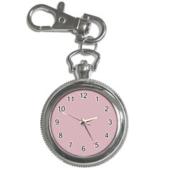 Baby Pink Stitched and Quilted Pattern Key Chain Watches