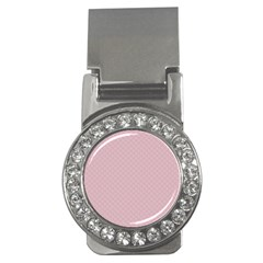 Baby Pink Stitched and Quilted Pattern Money Clips (CZ)