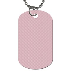 Baby Pink Stitched and Quilted Pattern Dog Tag (One Side)