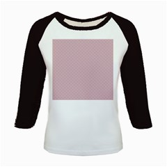Baby Pink Stitched and Quilted Pattern Kids Baseball Jerseys