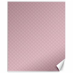 Baby Pink Stitched and Quilted Pattern Canvas 16  x 20