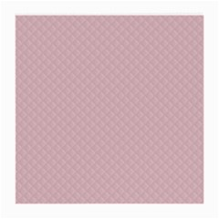 Baby Pink Stitched and Quilted Pattern Medium Glasses Cloth
