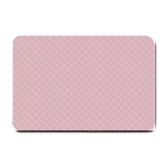 Baby Pink Stitched and Quilted Pattern Small Doormat