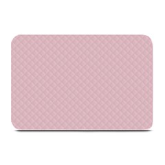 Baby Pink Stitched And Quilted Pattern Plate Mats