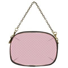 Baby Pink Stitched and Quilted Pattern Chain Purses (One Side)