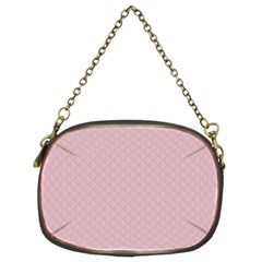 Baby Pink Stitched and Quilted Pattern Chain Purses (Two Sides)