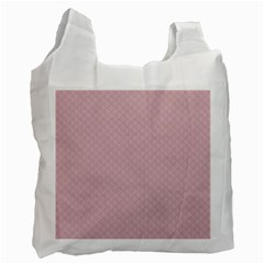 Baby Pink Stitched and Quilted Pattern Recycle Bag (Two Side)