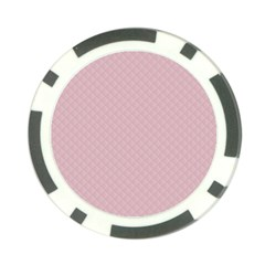 Baby Pink Stitched and Quilted Pattern Poker Chip Card Guard (10 pack)
