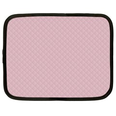 Baby Pink Stitched and Quilted Pattern Netbook Case (XL)