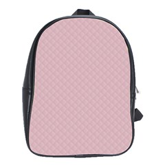 Baby Pink Stitched and Quilted Pattern School Bags(Large)