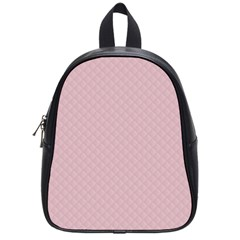 Baby Pink Stitched and Quilted Pattern School Bags (Small)