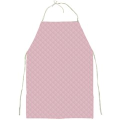 Baby Pink Stitched and Quilted Pattern Full Print Aprons