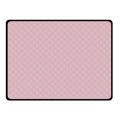 Baby Pink Stitched and Quilted Pattern Fleece Blanket (Small)