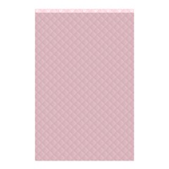 Baby Pink Stitched and Quilted Pattern Shower Curtain 48  x 72  (Small)
